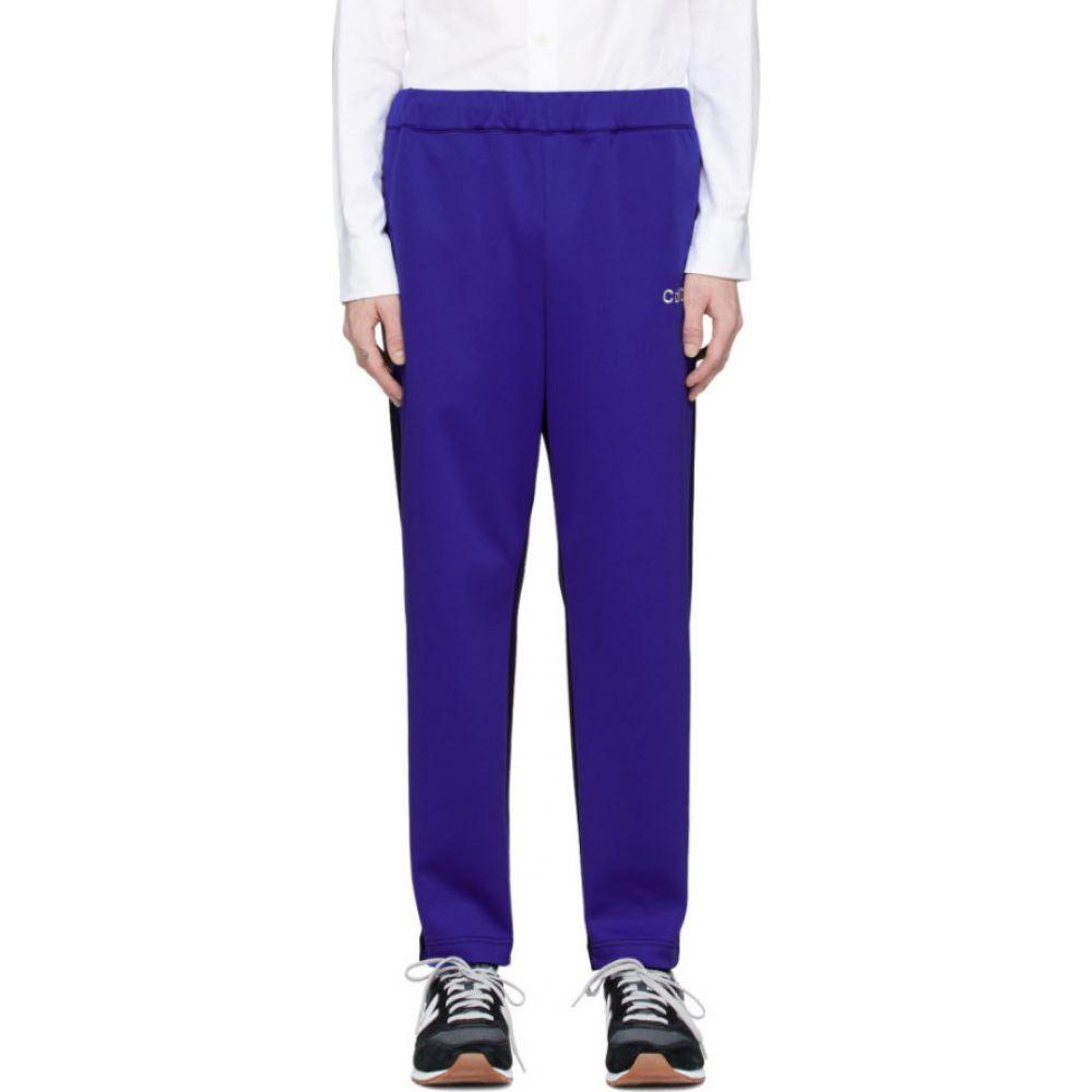 コム デ ギャルソン Comme des Garcons Homme メンズ スウェット・ジャージ ボトムス・パンツ【blue & navy jersey lounge pants】Blue/Navy