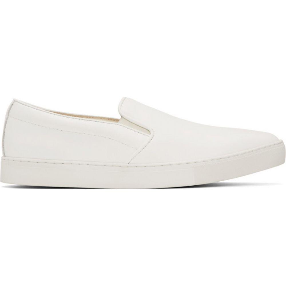 コム デ ギャルソン Comme des Garcons Homme メンズ スニーカー シューズ・靴【white leather steer sneakers】White