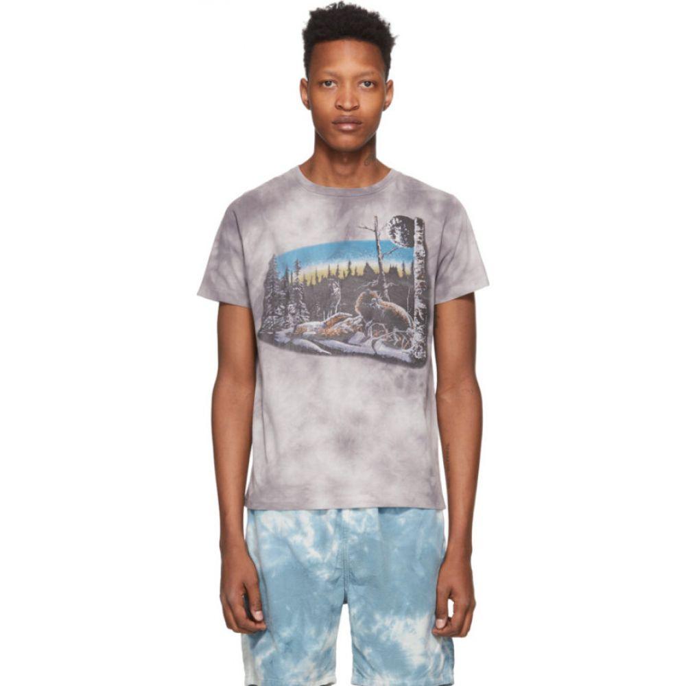 レミレリーフ Remi Relief メンズ Tシャツ トップス【grey tie-dye animal t-shirt】Black