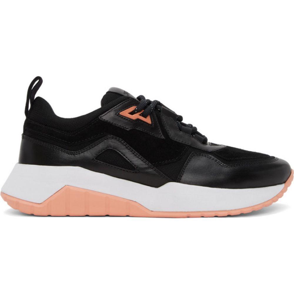 ヒューゴ ボス Hugo メンズ スニーカー シューズ・靴【black & pink atom sneakers】Black/Pink