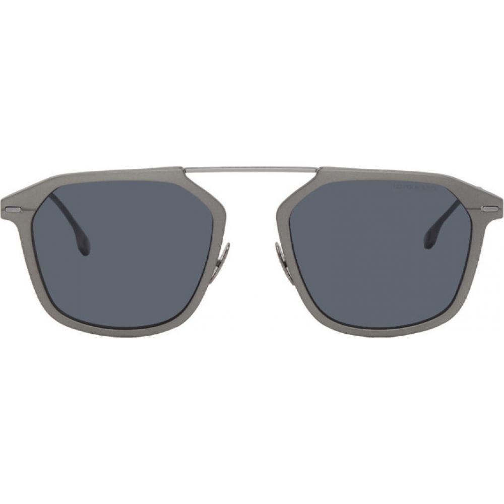 ヒューゴ ボス Boss メンズ メガネ・サングラス 【grey ruthenium sunglasses】Matte ruthenium