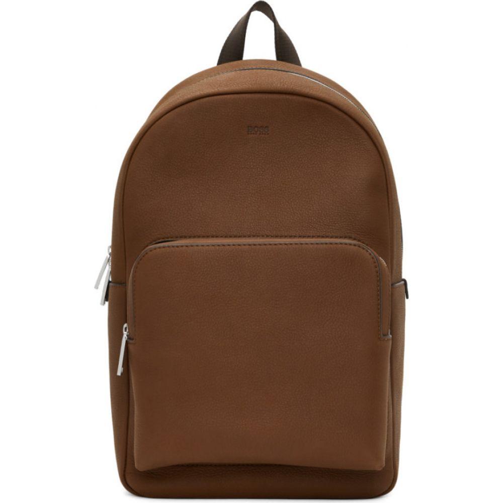 ヒューゴ ボス Boss メンズ バックパック・リュック バッグ【brown leather crosstown backpack】Brown