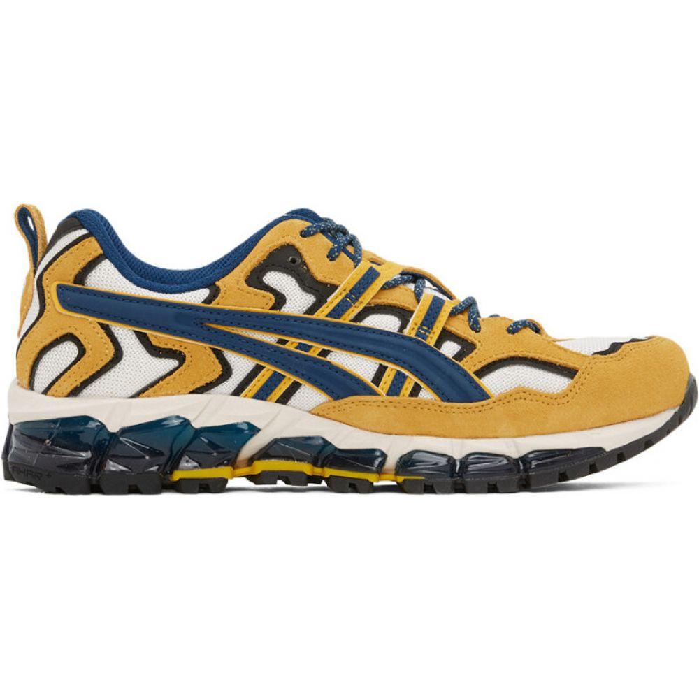 アシックス Asics メンズ スニーカー シューズ・靴【yellow & white gel-nandi 360 sneakers】Cream/Mako blue