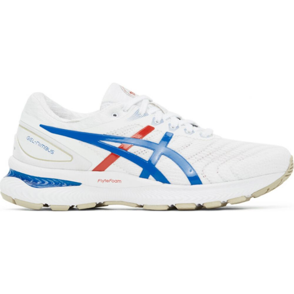アシックス Asics メンズ スニーカー シューズ・靴【white & blue retro tokyo edition gel-nimbus 22 sneakers】White/Electric blue