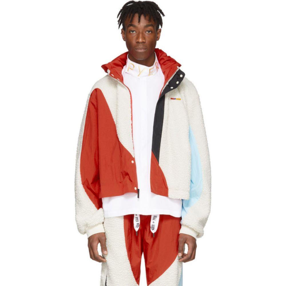 リーボック Reebok by Pyer Moss メンズ ジャケット ウィンドブレーカー アウター【white & red collection 3 nylon windbreaker jacket】Primal red
