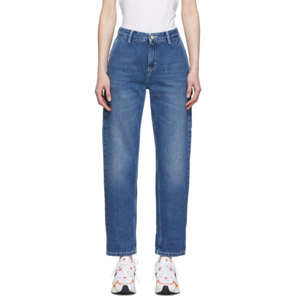 カーハート Carhartt Work In Progress レディース ジーンズ・デニム ボトムス・パンツ【blue pierce jeans】Blue