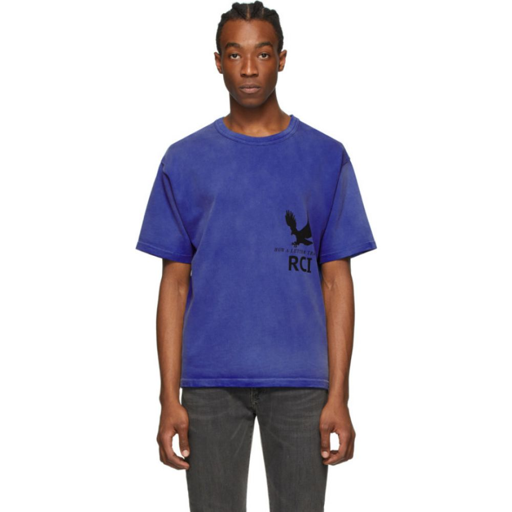リースクーパー Reese Cooper メンズ Tシャツ トップス【blue aged post office directory t-shirt】Blue