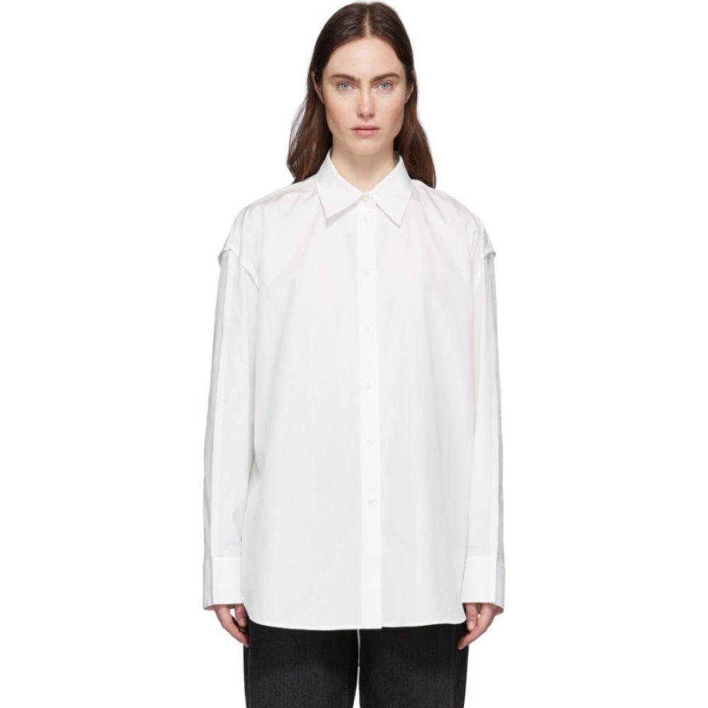 アクネ ストゥディオズ Acne Studios レディース ブラウス・シャツ トップス【white inverted seams shirt】White