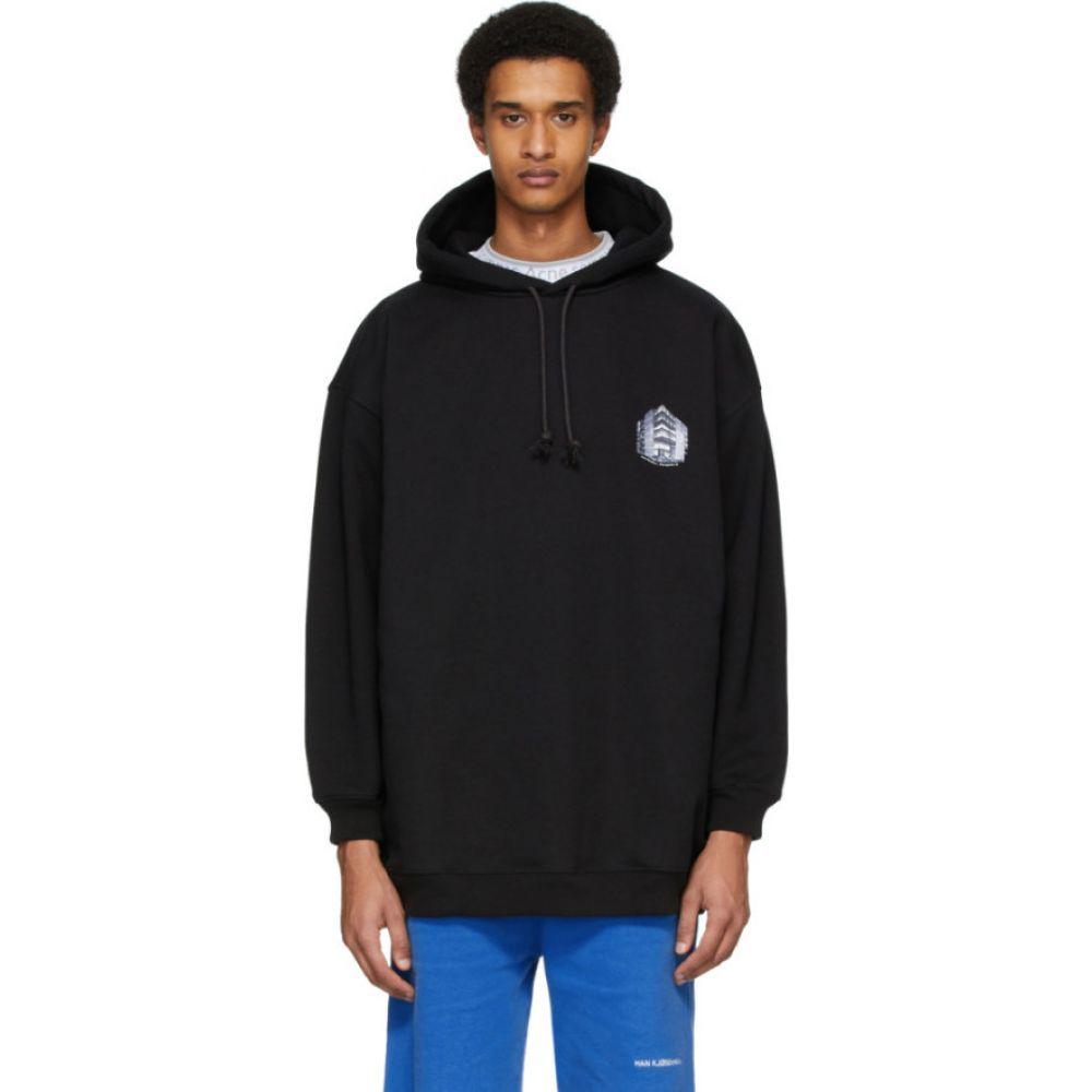 アクネ ストゥディオズ Acne Studios メンズ パーカー トップス【black headquarter print hoodie】Black