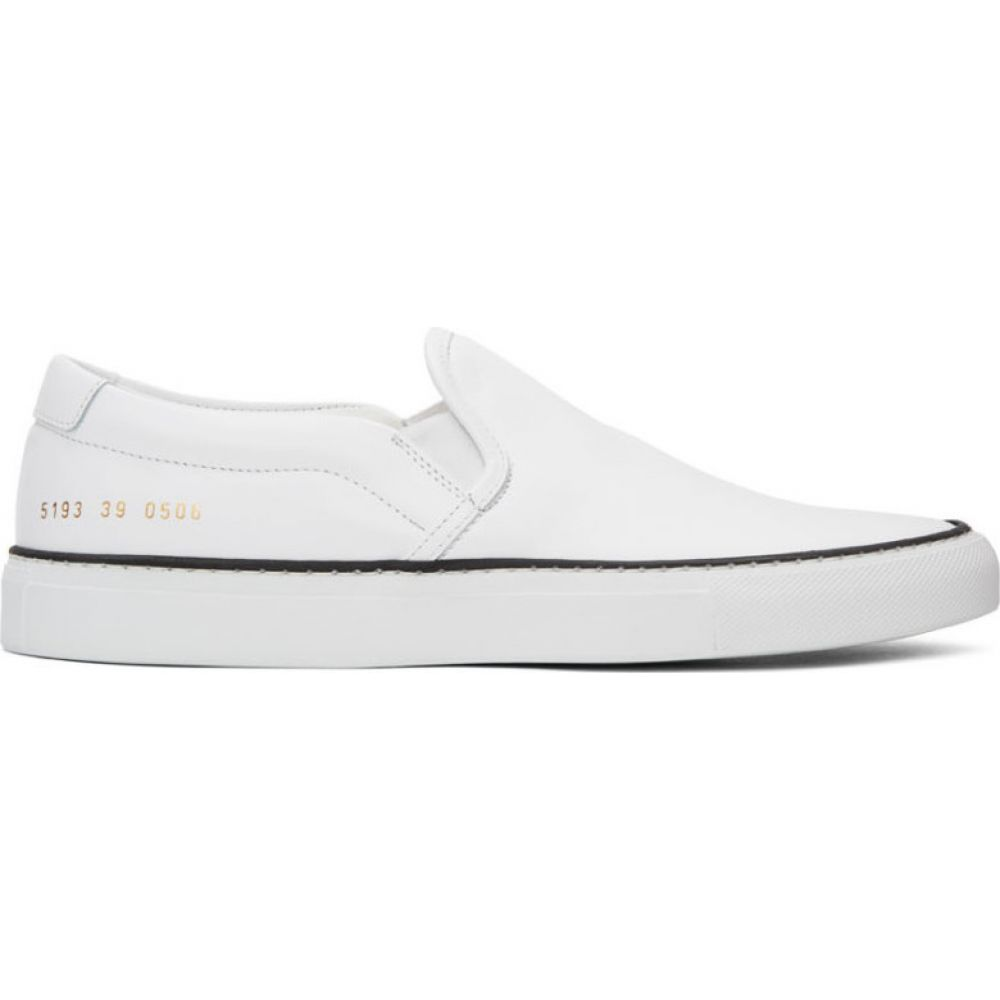 コモン プロジェクト Common Projects メンズ スリッポン・フラット シューズ・靴【white leather slip-on sneakers】White
