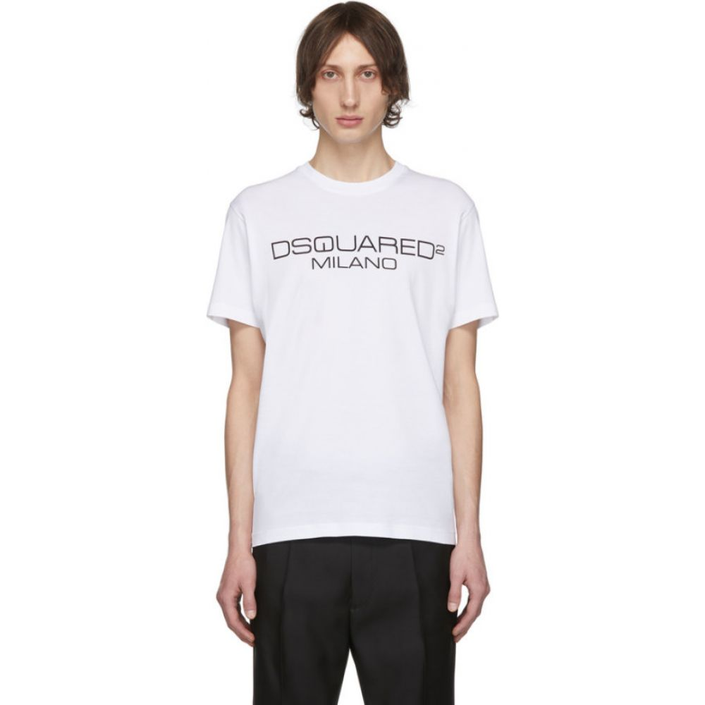 ディースクエアード Dsquared2 メンズ Tシャツ トップス【white logo t-shirt】White