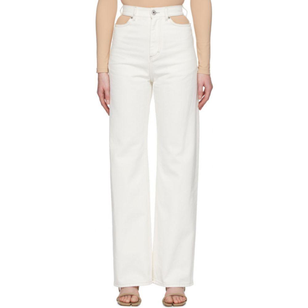 メゾン マルジェラ Maison Margiela レディース ジーンズ・デニム ボトムス・パンツ【white wide-leg cut-out jeans】White