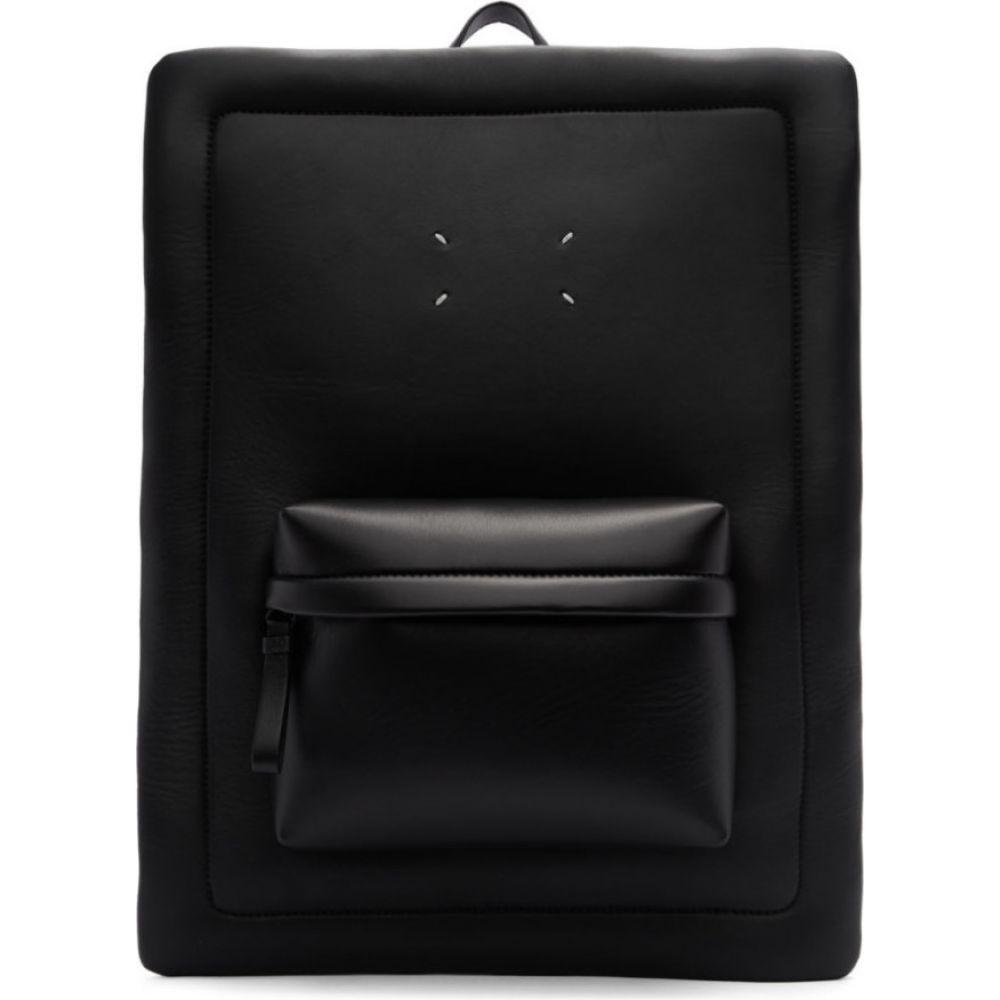 メゾン マルジェラ Maison Margiela メンズ バックパック・リュック バッグ【black leather square backpack】Black