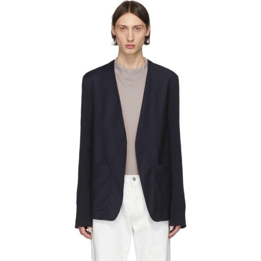 メゾン マルジェラ Maison Margiela メンズ スーツ・ジャケット アウター【navy mohair poplin blazer】Blue