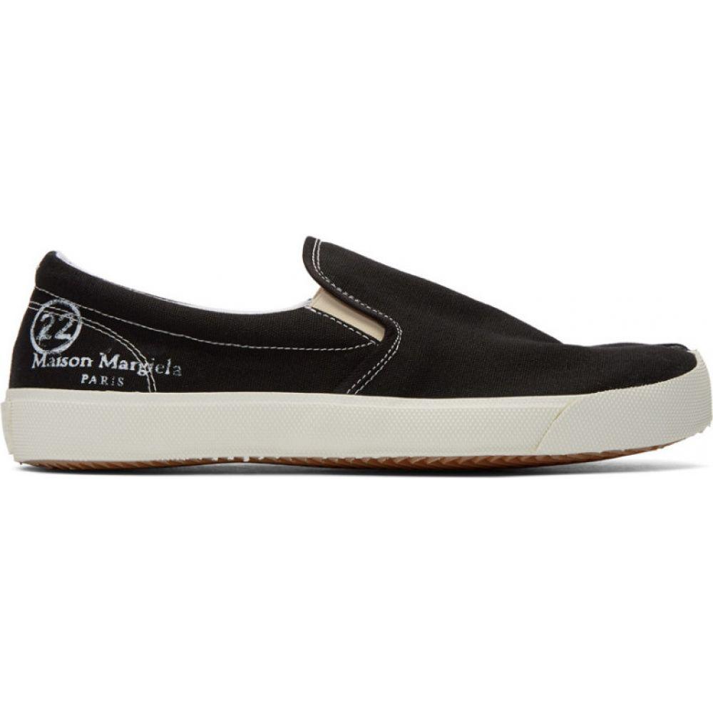 メゾン マルジェラ Maison Margiela メンズ スリッポン・フラット シューズ・靴【black canvas tabi slip-on sneakers】Black