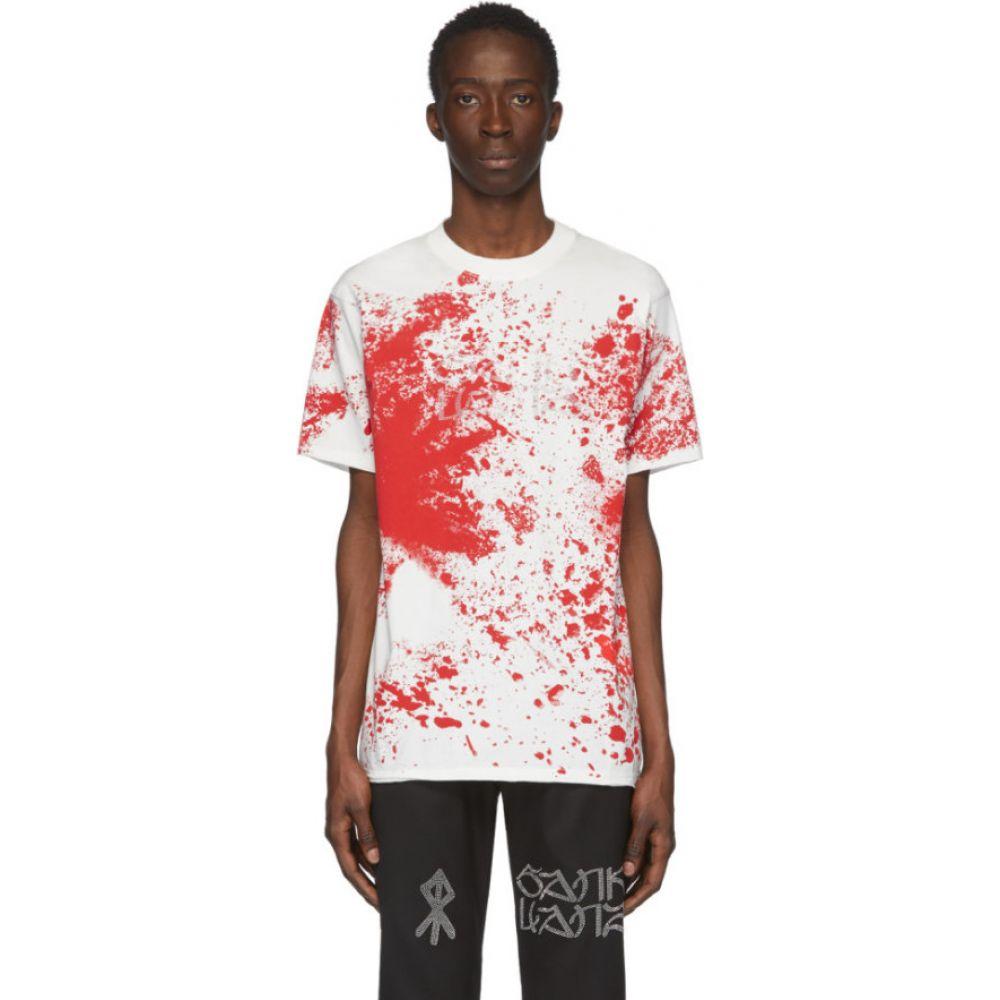 サンクアンズ Sankuanz メンズ Tシャツ トップス【white blood t-shirt】White