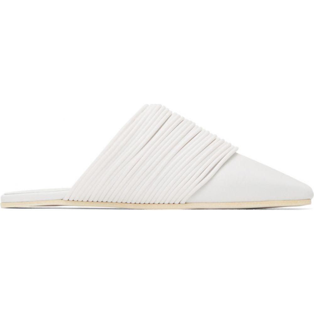 メゾン マルジェラ MM6 Maison Margiela レディース ローファー・オックスフォード シューズ・靴【white multi strap slip-on loafers】White