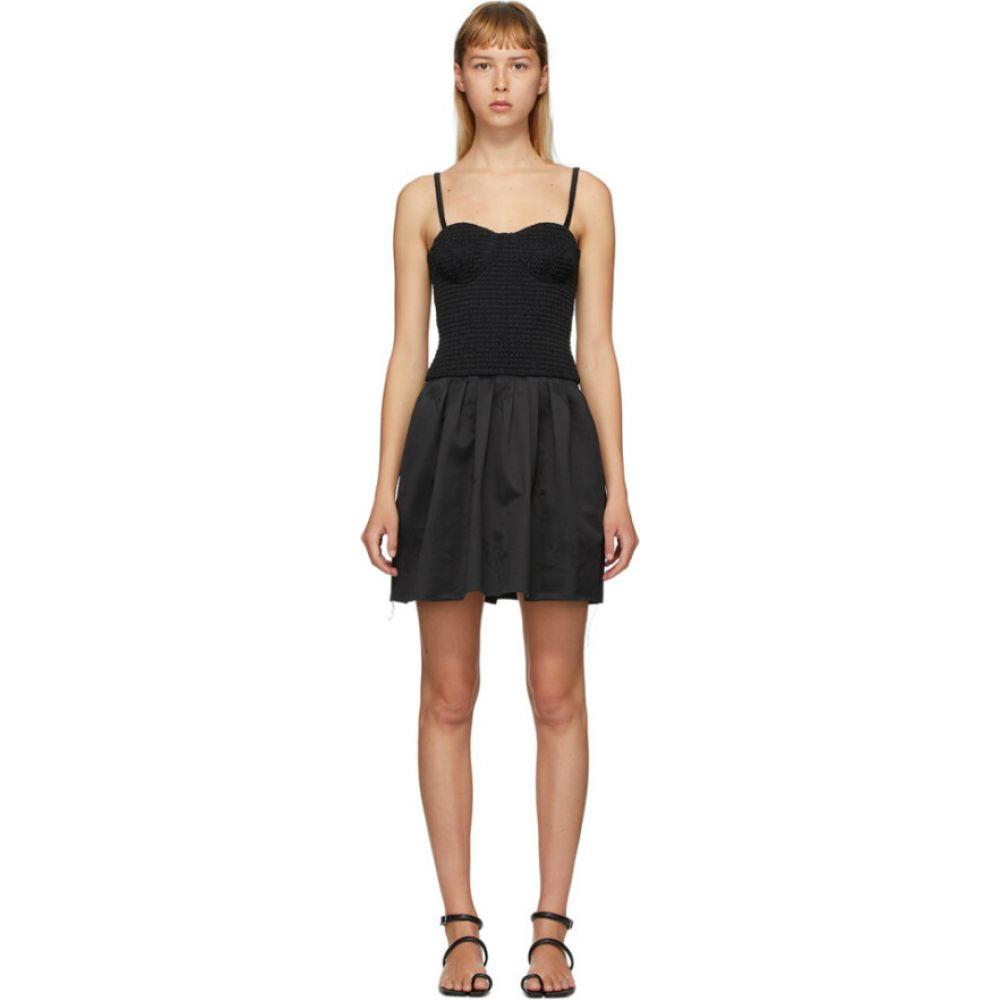 マリナ モスコーン Marina Moscone レディース ワンピース ビスチェ チュニックドレス ワンピース・ドレス【black smocked bustier tunic dress】Black
