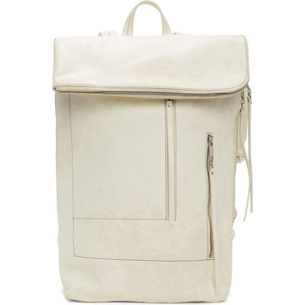 リック オウエンス Rick Owens メンズ バックパック・リュック バッグ【white tecuatl duffle backpack】White