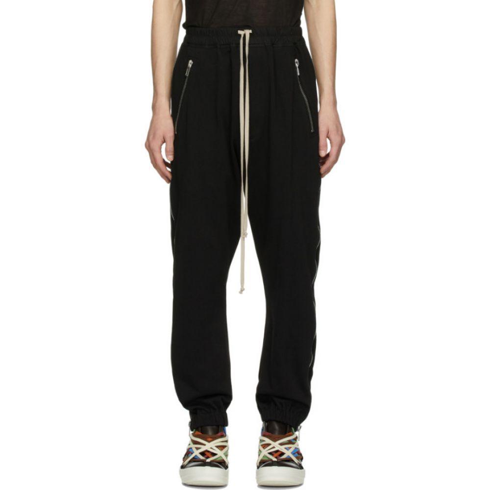 リック オウエンス Rick Owens メンズ スウェット・ジャージ ボトムス・パンツ【black zippered sweatpants】Black
