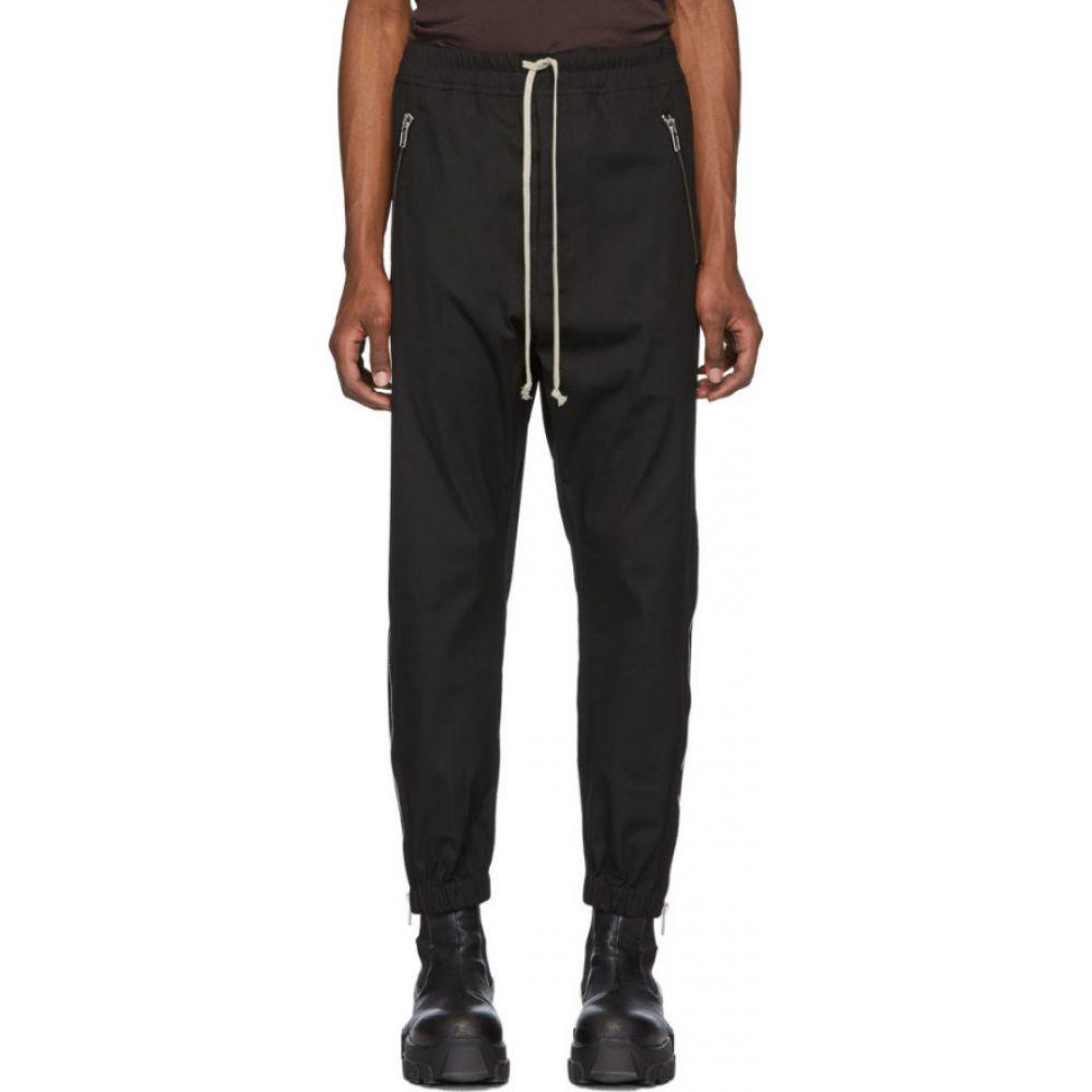 リック オウエンス Rick Owens メンズ スウェット・ジャージ ボトムス・パンツ【black tecuatl track lounge pants】Black
