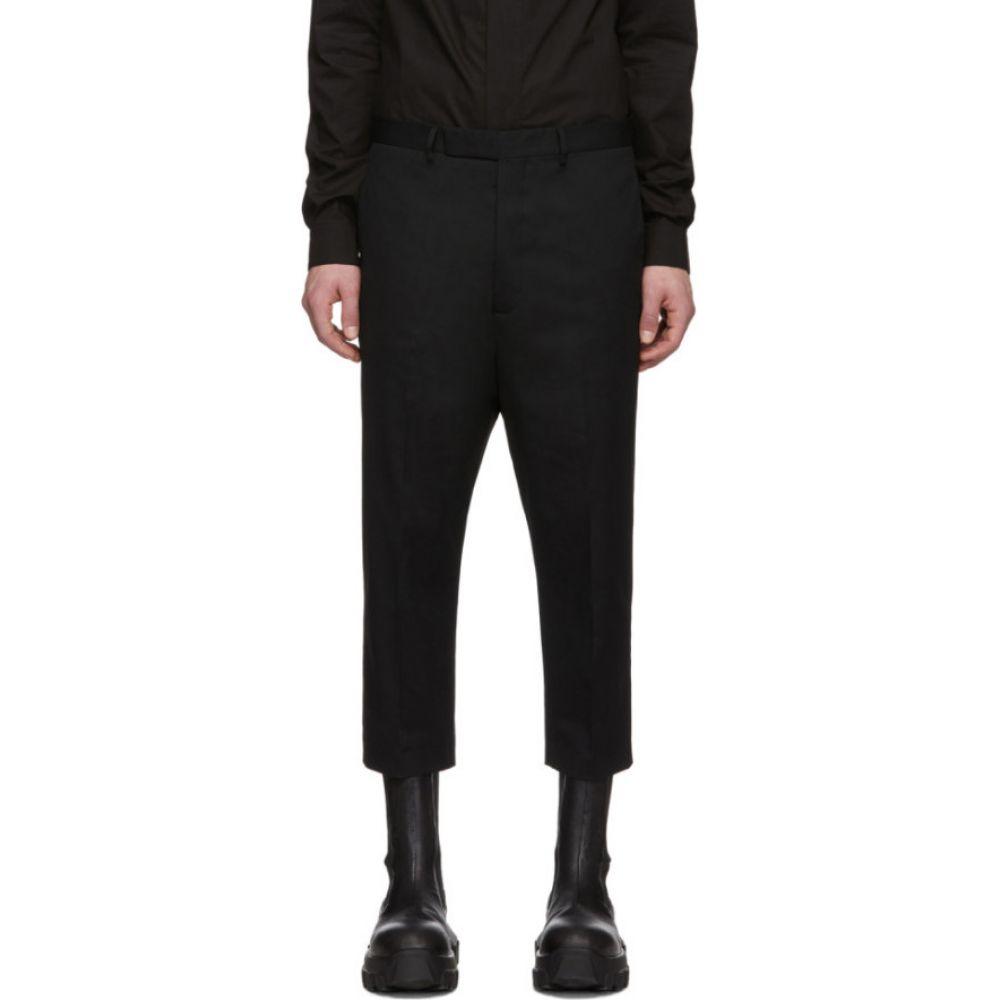 リック オウエンス Rick Owens メンズ クロップド ボトムス・パンツ【black astaires cropped trousers】Black