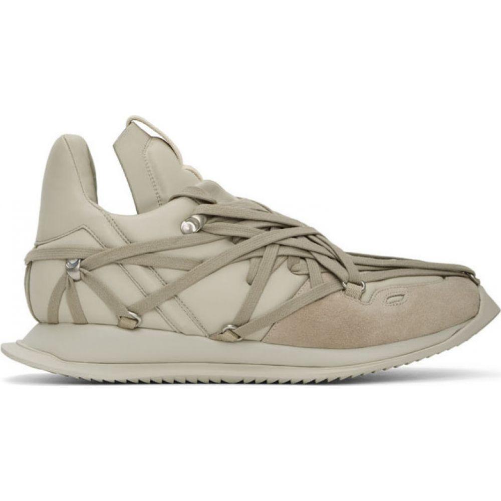 リック オウエンス Rick Owens メンズ スニーカー シューズ・靴【off-white maximal runner sneakers】Pearl