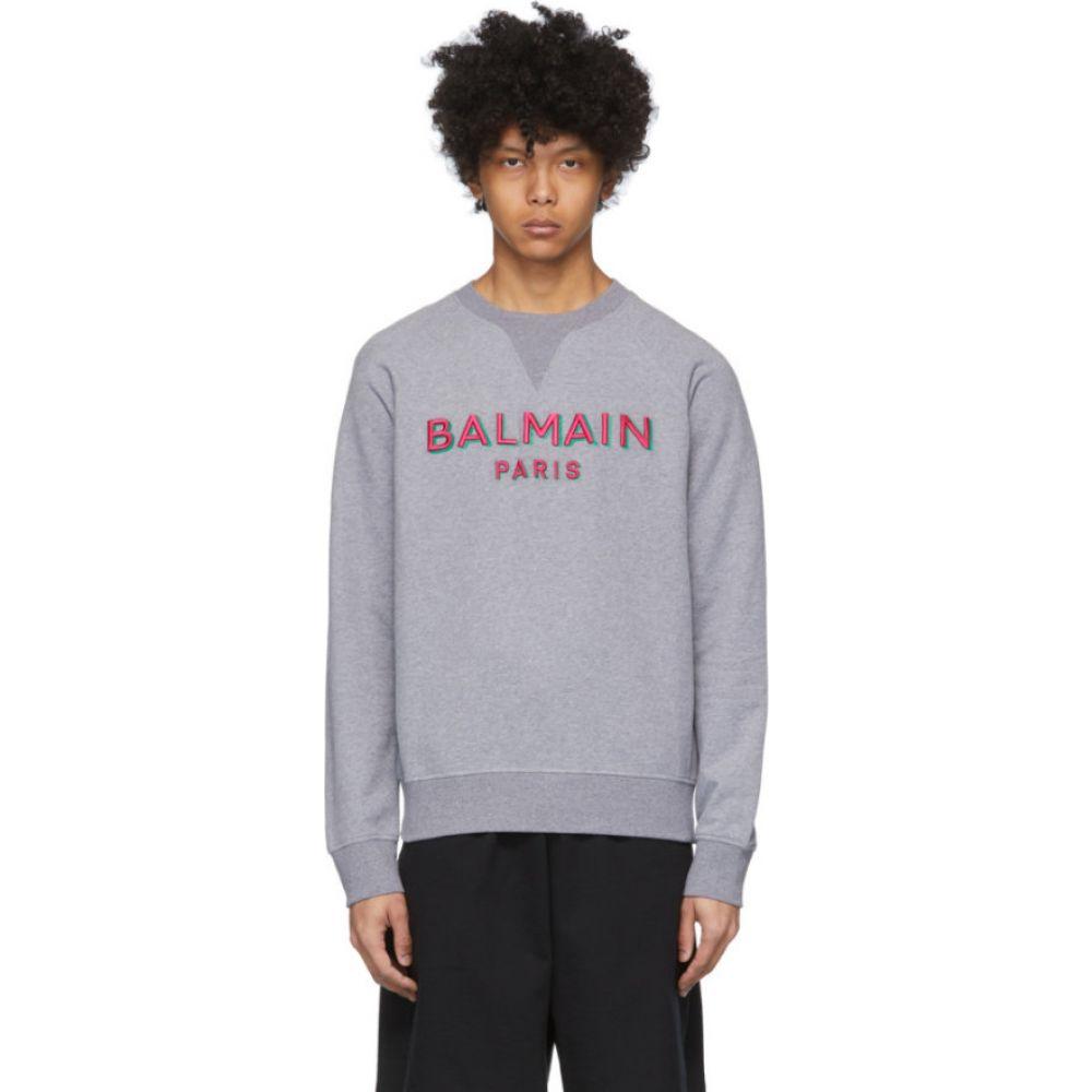 バルマン Balmain メンズ スウェット・トレーナー トップス【grey 3d logo sweatshirt】Grey