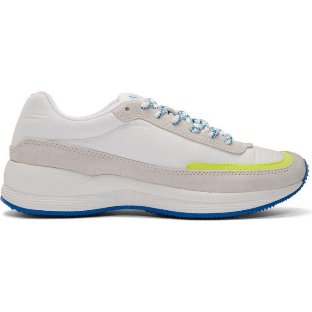 アーペーセー A.P.C. メンズ スニーカー シューズ・靴【white & yellow mary low-top sneakers】Yellow