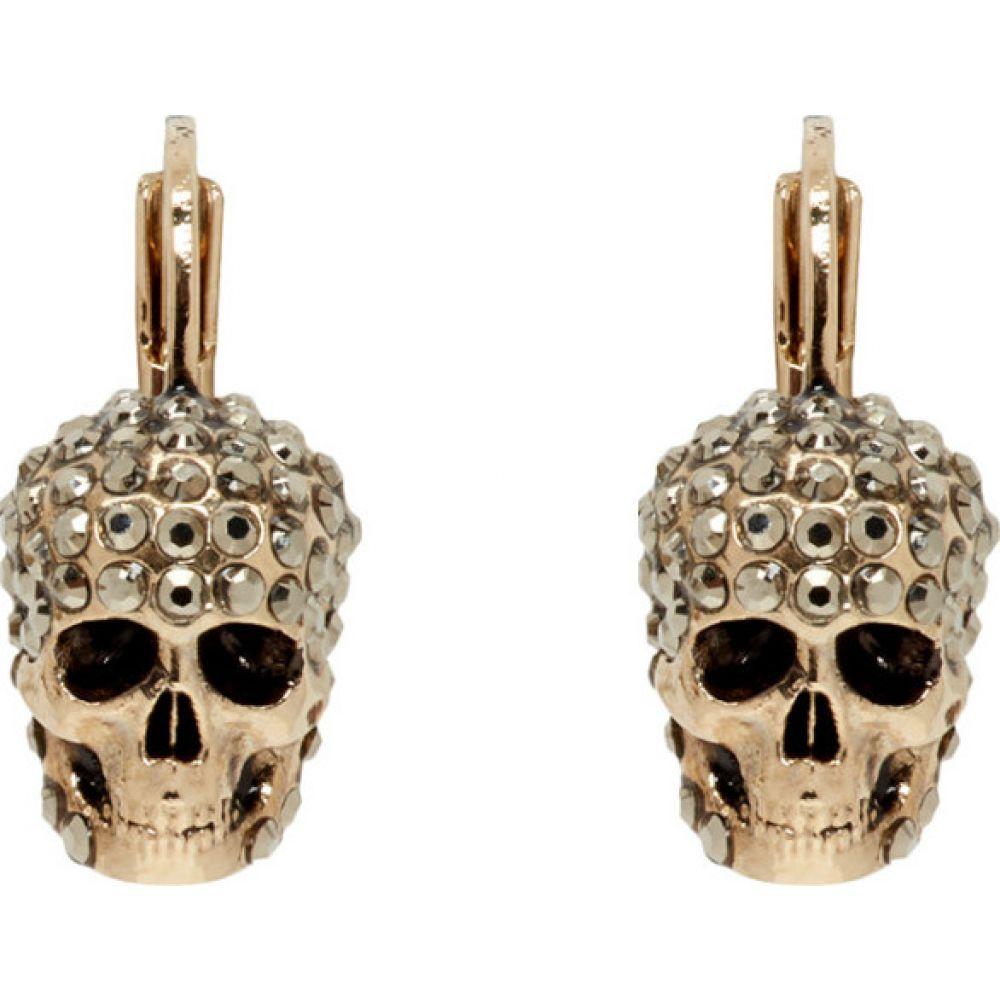 アレキサンダー マックイーン Alexander McQueen レディース イヤリング・ピアス ジュエリー・アクセサリー【gold skull hoop earrings】Gold