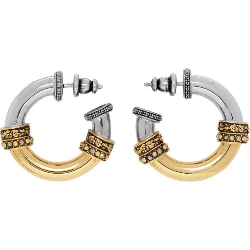 アレキサンダー マックイーン Alexander McQueen レディース イヤリング・ピアス ジュエリー・アクセサリー【gold & silver small hoop earrings】Gold/Silver