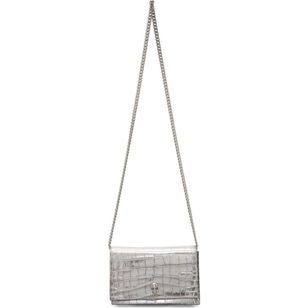 アレキサンダー マックイーン Alexander McQueen レディース ショルダーバッグ バッグ【silver croc mini skull bag】Silver