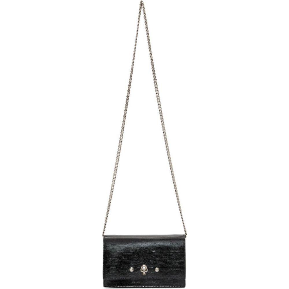 アレキサンダー マックイーン Alexander McQueen レディース ショルダーバッグ バッグ【black mini lizard skull studs bag】Black