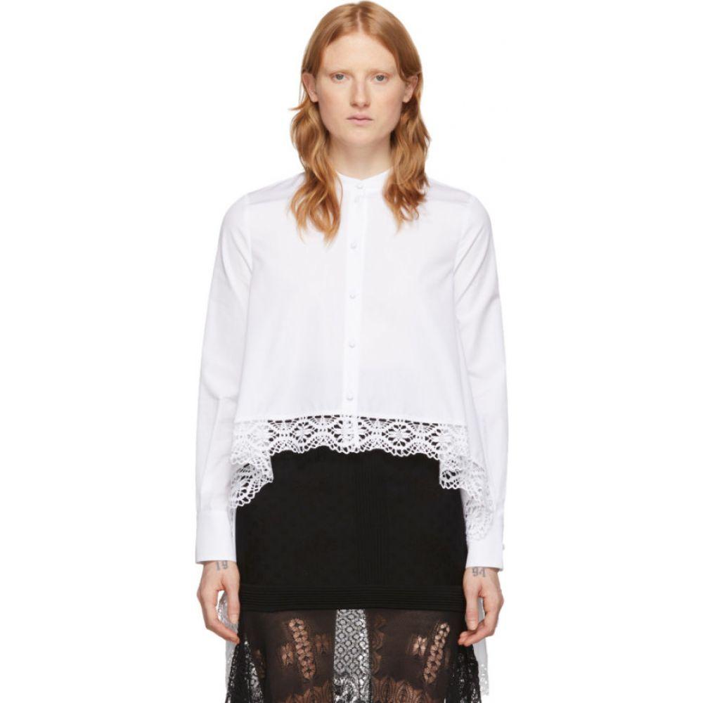 アレキサンダー マックイーン Alexander McQueen レディース ブラウス・シャツ トップス【white cotton lace shirt】Optic white