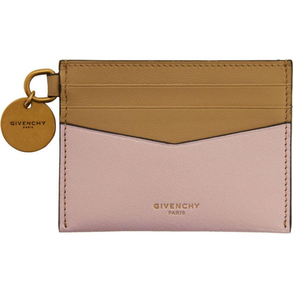 ジバンシー Givenchy レディース カードケース・名刺入れ カードホルダー【beige & pink edge card holder】Beige/Pink