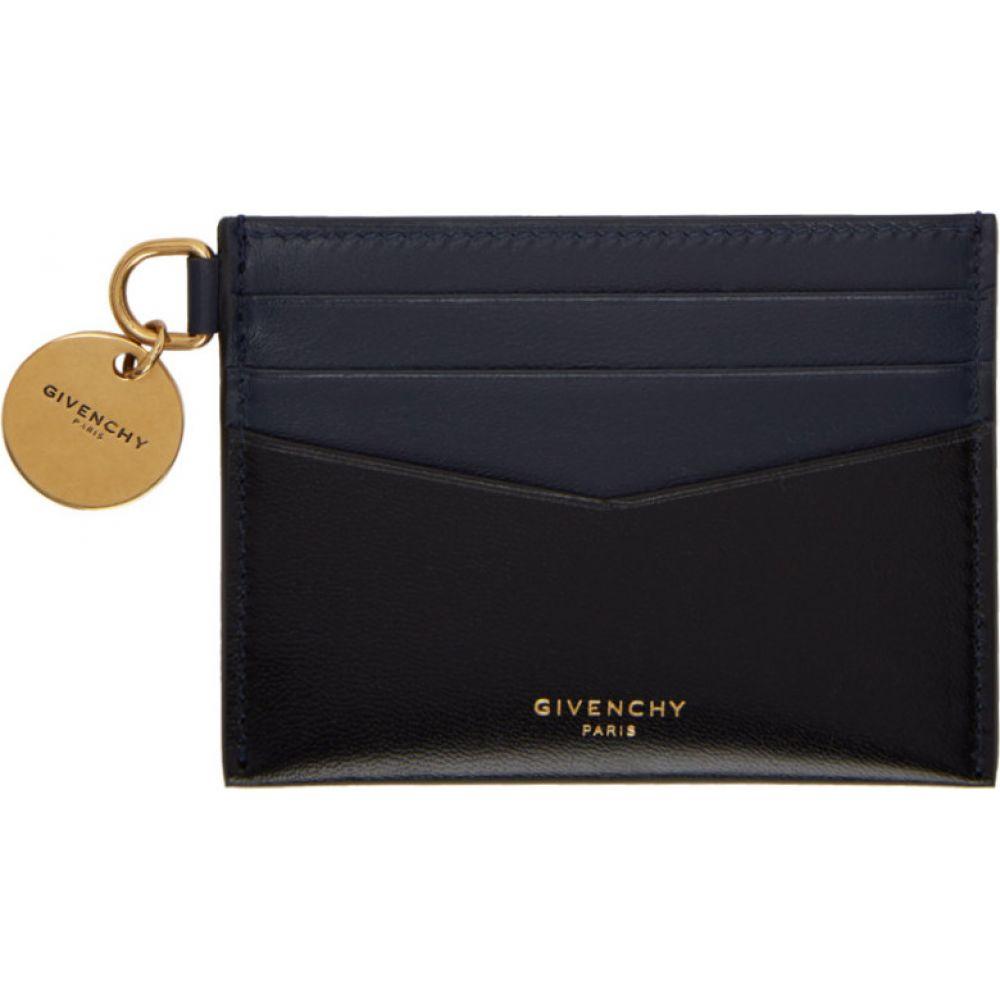 ジバンシー Givenchy レディース カードケース・名刺入れ カードホルダー【black & navy edge card holder】Black