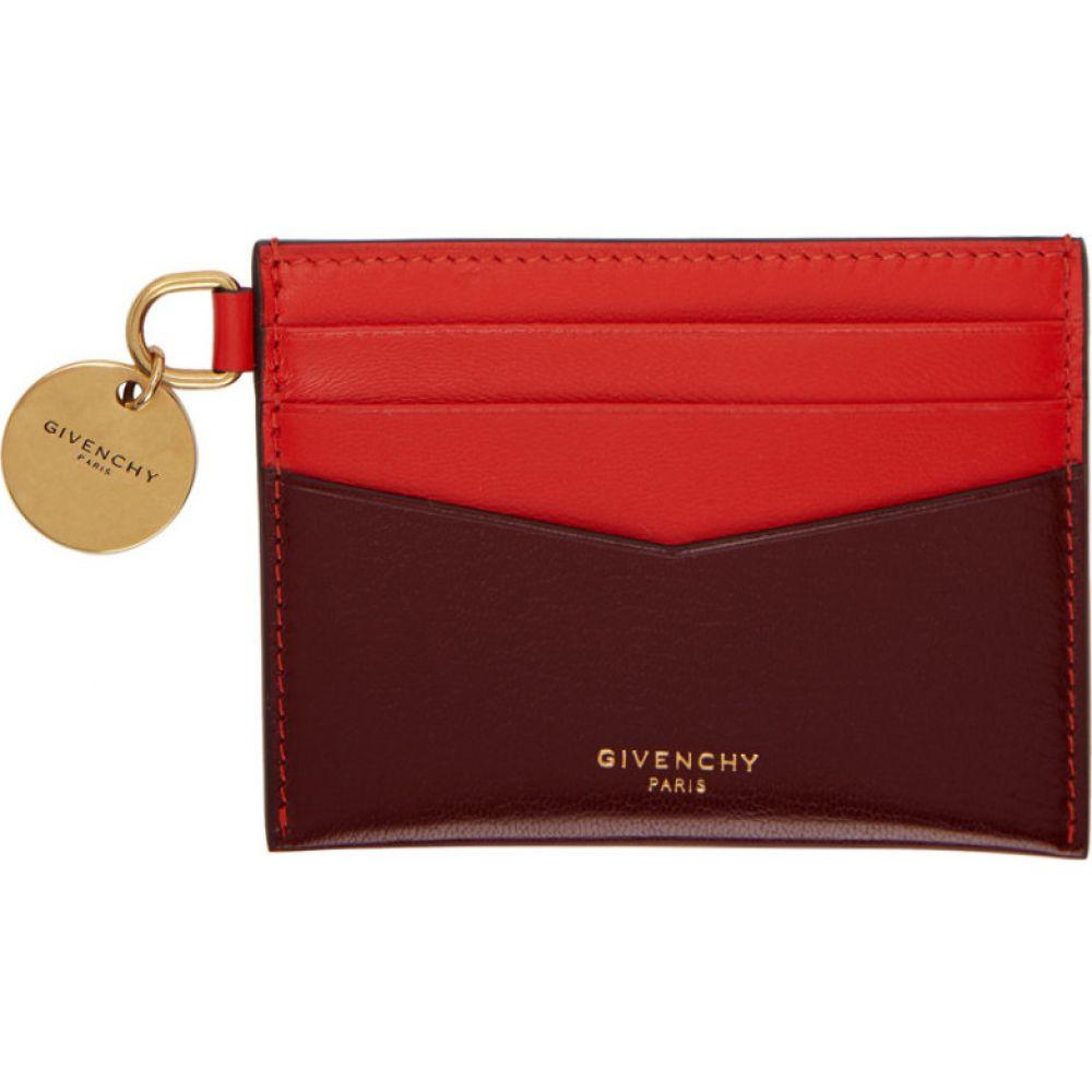 ジバンシー Givenchy レディース カードケース・名刺入れ カードホルダー【red & burgundy edge card holder】Aubergine