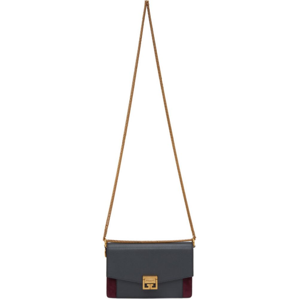 ジバンシー Givenchy レディース ショルダーバッグ バッグ【grey & burgundy suede gv3 wallet bag】Storm grey/Aubergine