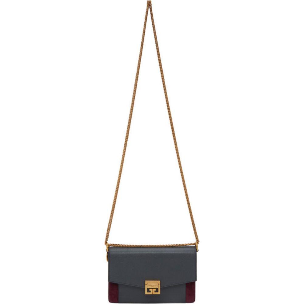 ジバンシー Givenchy レディース ショルダーバッグ バッグ【grey & burgundy suede gv3 wallet bag】Storm grey/Aubergine