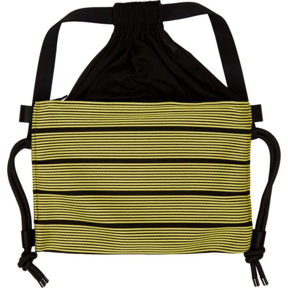 イッセイ ミヤケ 132 5. ISSEY MIYAKE メンズ バックパック・リュック バッグ【black & yellow stripe bag】Yellow