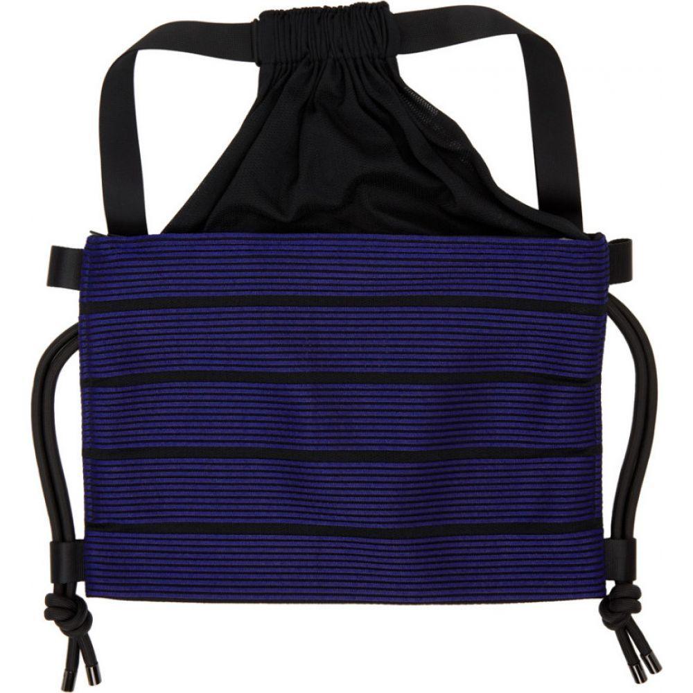 イッセイ ミヤケ 132 5. ISSEY MIYAKE メンズ バックパック・リュック バッグ【black & blue stripe bag】Blue