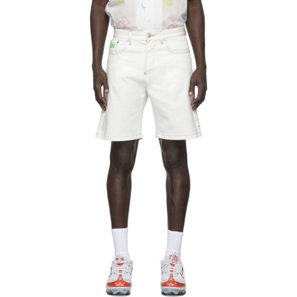 ジーシーディーエス GCDS メンズ ショートパンツ バミューダ ボトムス・パンツ【off-white bucket bermuda shorts】White