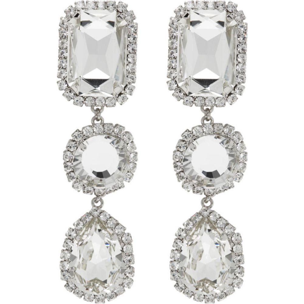 ワンダリング Wandering レディース イヤリング・ピアス ドロップピアス ジュエリー・アクセサリー【silver crystal stone drop earrings】Silver
