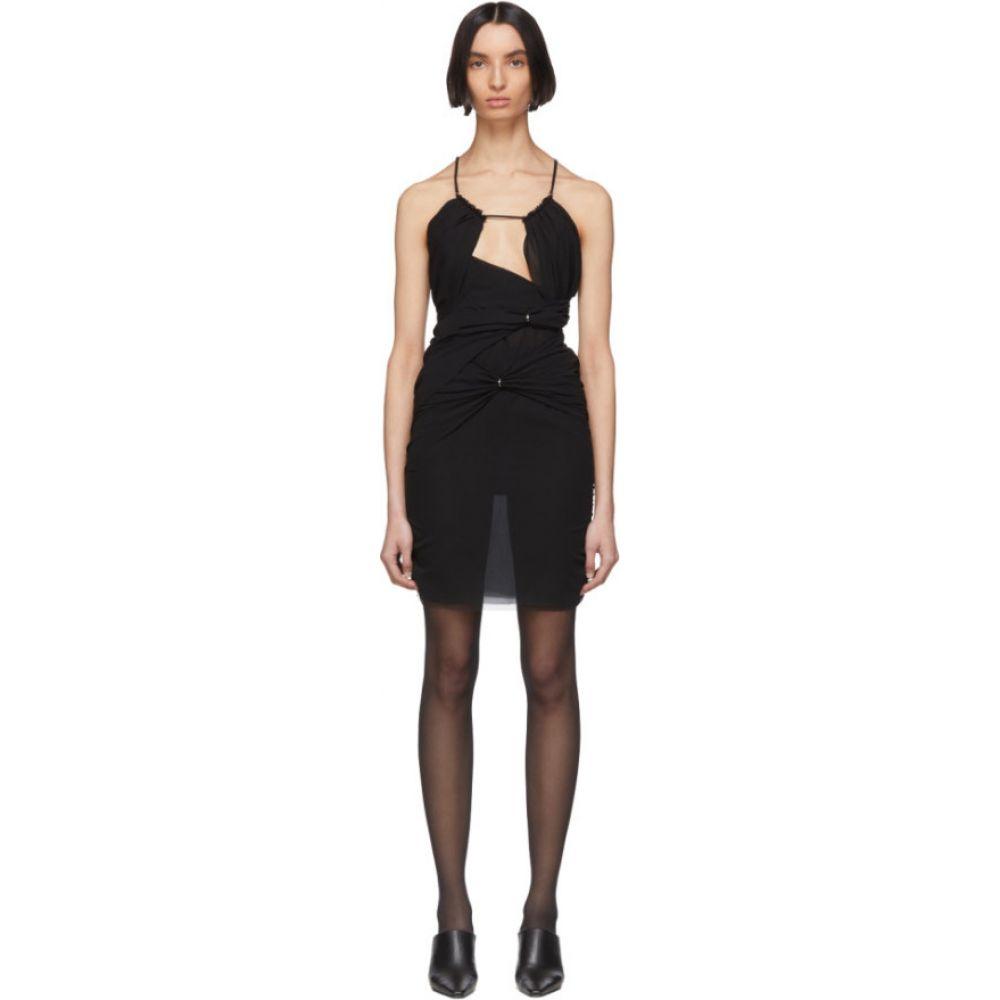 ネンシ ドジョカ Nensi Dojaka レディース ワンピース ワンピース・ドレス【ssense exclusive black silk 11 dress】Black