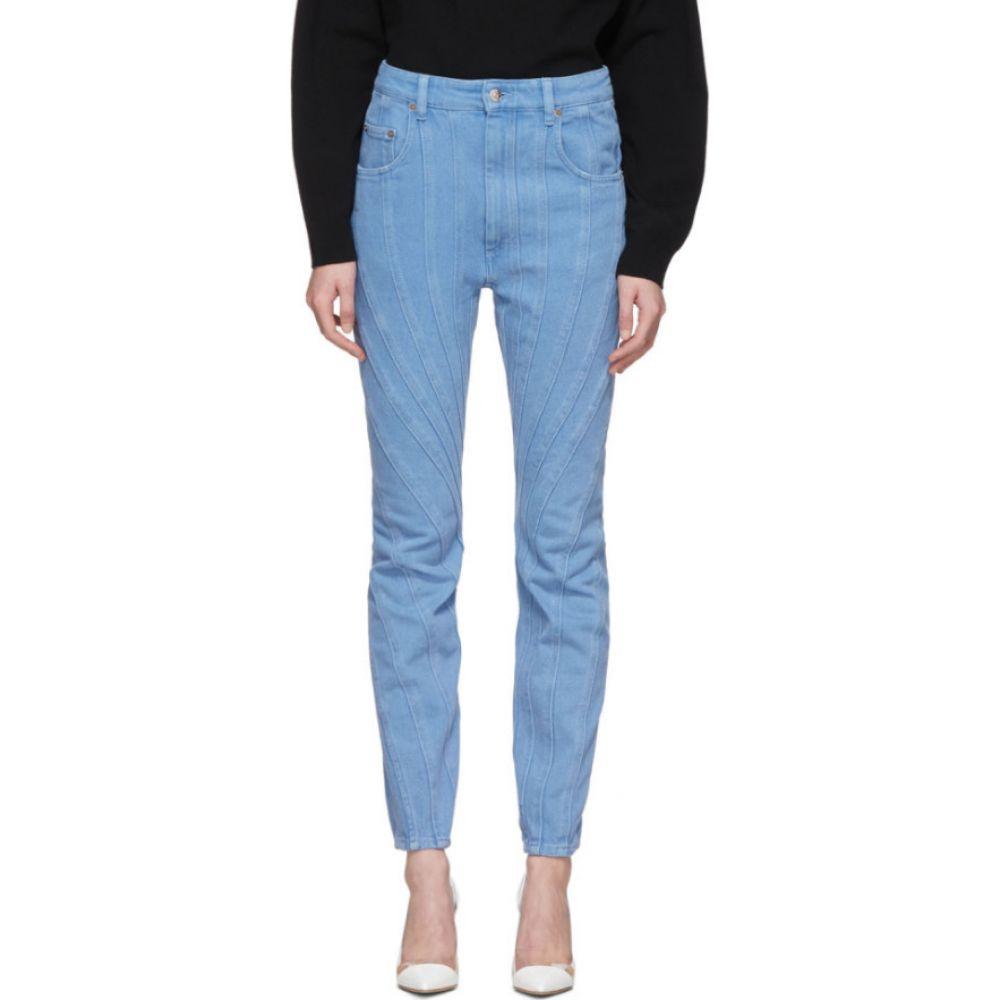 ミュグレー Mugler レディース ジーンズ・デニム ボトムス・パンツ【blue twist jeans】Blue