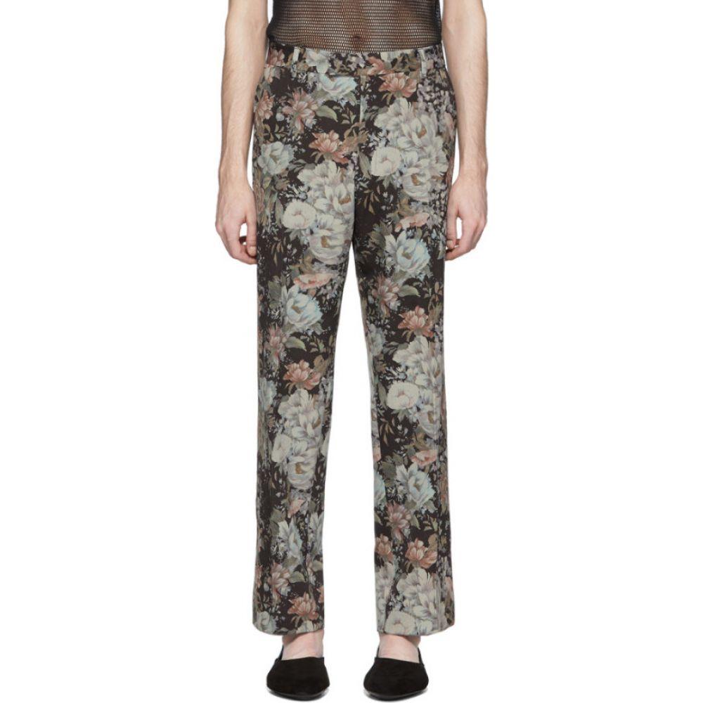 ドリス ヴァン ノッテン Dries Van Noten メンズ ボトムス・パンツ 【black & green floral trousers】Brown