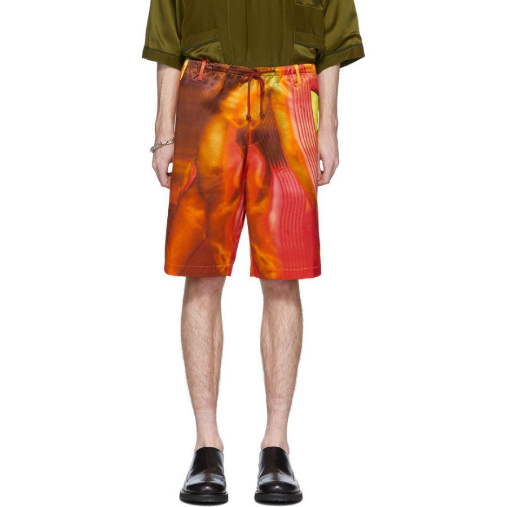 ドリス ヴァン ノッテン Dries Van Noten メンズ ショートパンツ ボトムス・パンツ【red & orange satin shorts】Desb