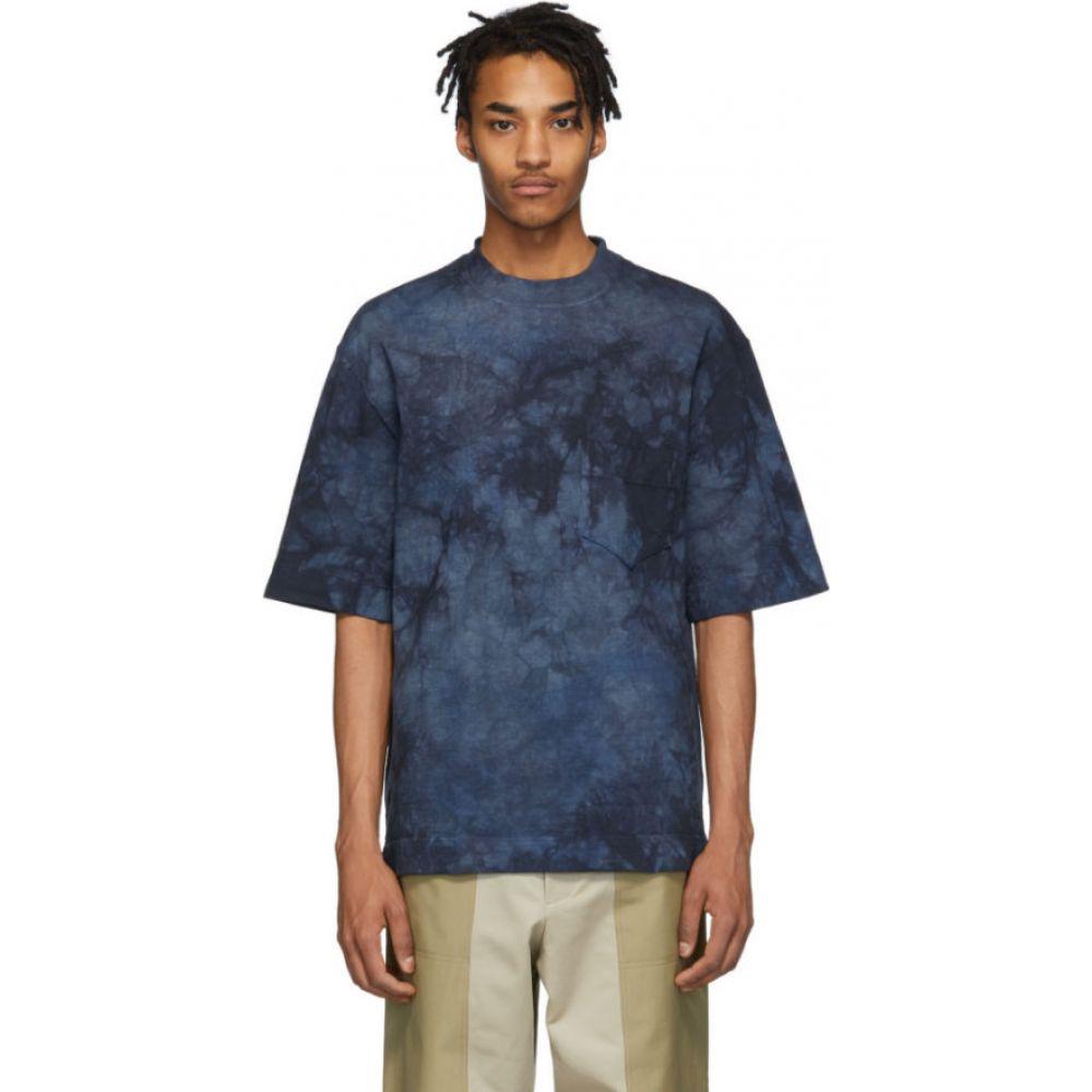 ニコラス デイリー Nicholas Daley メンズ Tシャツ トップス【blue tie-dye t-shirt】Navy/Blue