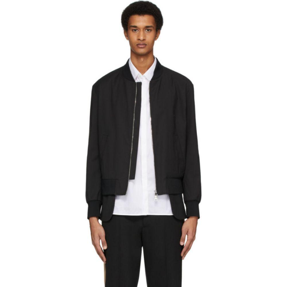 ニール バレット Neil Barrett メンズ ブルゾン ミリタリージャケット アウター【black extended bomber jacket】Black