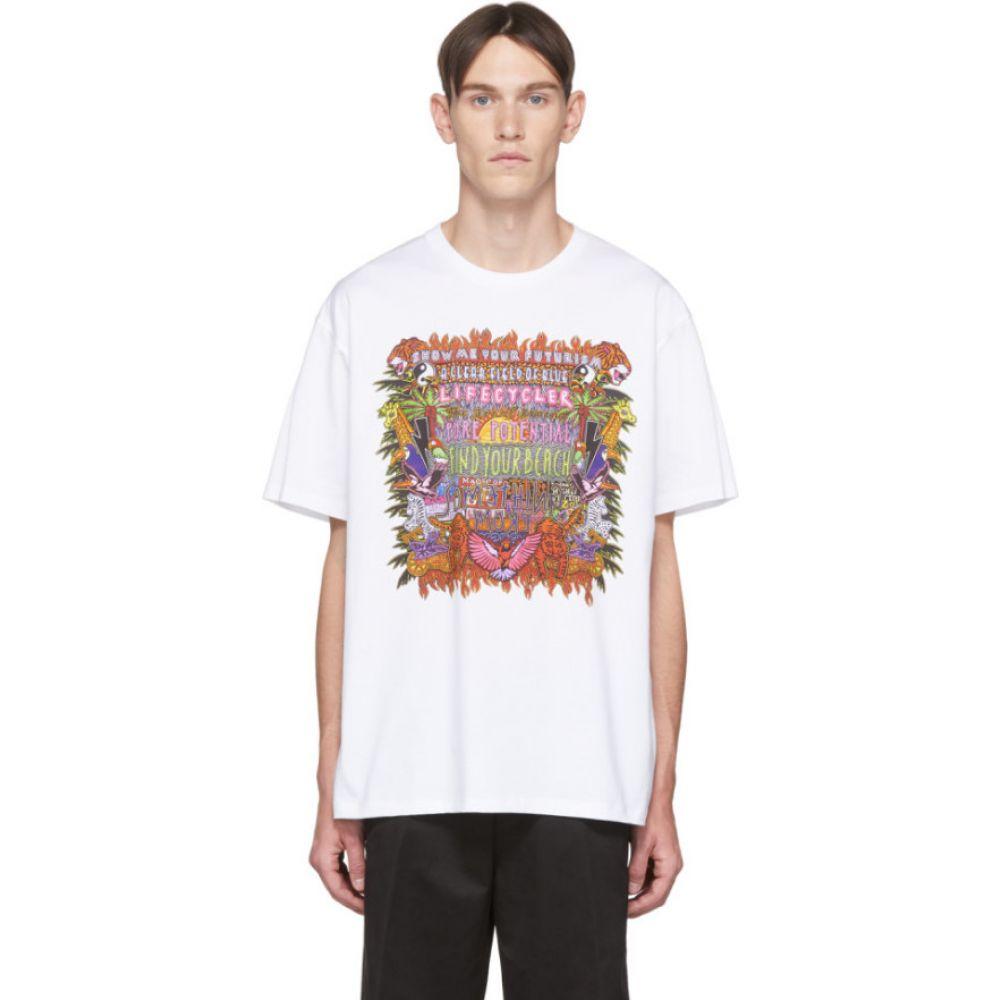ニール バレット Neil Barrett メンズ Tシャツ トップス【white & multicolor artist t-shirt】White